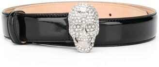 Philipp Plein Skull Buckle Belt