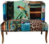 A&B Home Vesta Bird Collage Print Settee