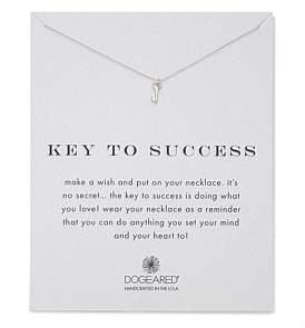 Dogeared Key To Success Reminder Necklace