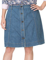 Chaps Plus A-Line Denim Skirt
