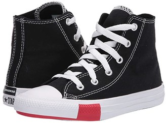 Converse Chuck Taylor(r) All Star(r) Logo Play (Little Kid) (Black/University Red/Amarillo) Kid's Shoes
