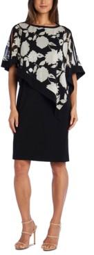 R & M Richards Foil Poncho Dress