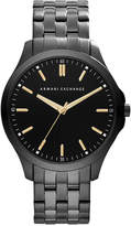 Armani Exchange Men's Black Ion-Plated Stainless Steel Bracelet Watch 45mm AX2144