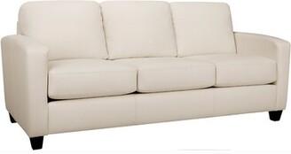 Woodby Leather Sofa Latitude Run