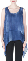 Joseph Ribkoff Kerchief Layered Tunic Top