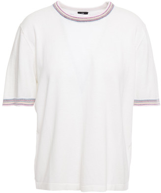 Paul Smith Cotton And Wool-blend Top
