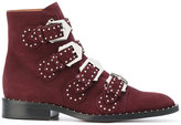 Givenchy studded buckle fitted boots - women - Calf Leather/Leather - 37