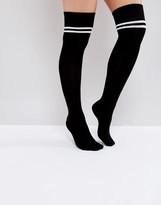 Asos 2 Stripe Thigh High Socks