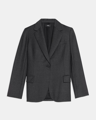 Theory Fitted Blazer in Sleek Flannel