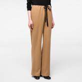 Paul Smith Women's Camel Wool-Blend Drawstring Trousers