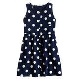 J.Crew Girls' button-down polka-dot dress