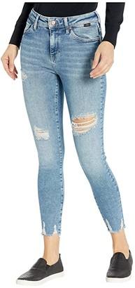 Mavi Jeans Tess High-Rise Super Skinny in Light Ripped LA Vintage (Light Ripped LA Vintage) Women's Jeans