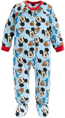 AME Toddler Boys 1-Pc. Fleece Mickey Mouse & Donald Duck Footie Pajamas