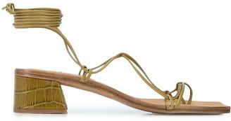 Miista Cimarron crocodile ankle sandals