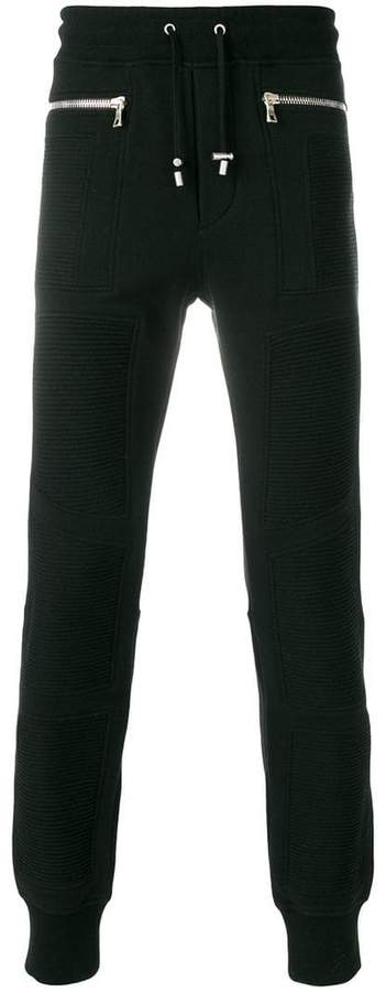 Balmain zipped biker track pants