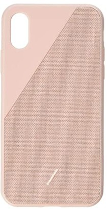 Native Union Click Canvas iPhone(r) X, XS Case (Rose) Cell Phone Case