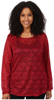 Roper Plus Size 0065 Allover Stretch Lace Top