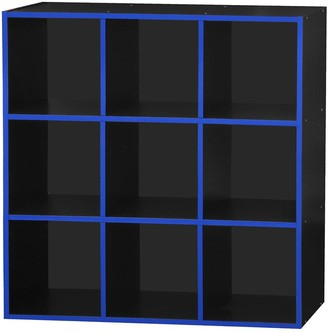 Lloyd Pascal Virtuoso 9 Cube Storage with Blue Edging