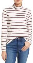 Madewell Women's Whisper Cotton Stripe Turtleneck Top