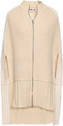 McQ Cape-effect Ribbed Wool And Cashmere-blend Cardigan