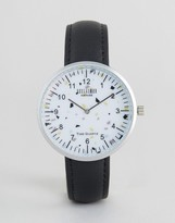 Reclaimed Vintage Inspired Print Leather Watch In Black