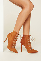 Forever 21 FOREVER 21+ Lace-Up Faux Suede Booties