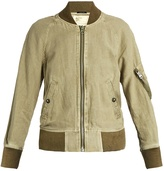 R 13 Shrunken-fit cotton-blend flight jacket
