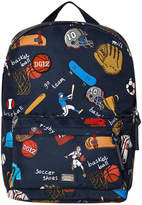 Dolce & Gabbana Navy Sports Cartoon Print Backpack
