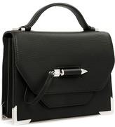 Mackage Keeley Structured Leather Shoulder Bag In Black