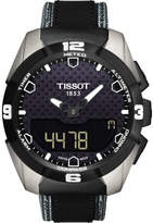 Tissot Simili Carbon Solar Indexes - Antracite Fabric & Blk Lthr