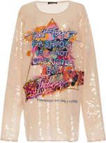 Balmain Embroidered Sequin T-Shirt
