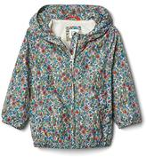 Gap Floral jersey-lined windbreaker