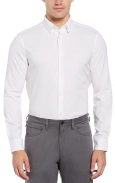 Perry Ellis Men's Long Sleeve Slim Poly Check Quick Dry Shirt