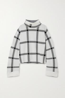 Stella McCartney - + Net Sustain Checked Stretch-knit Top - White