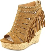 Not Rated Frolic In Fringe Women US 8.5 Wedge Sandal