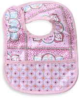 Caden Lane Large Moroccan Print/Octagon Reversible Coated Bib in Pink