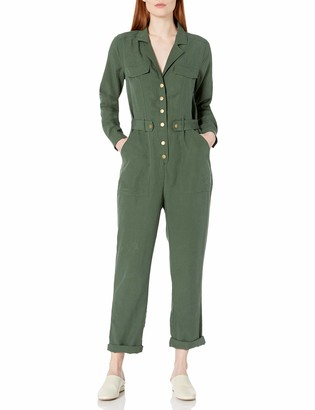 ASTR the Label Women's Siobhan Utility Style Longsleeve Casual Jumpsuit