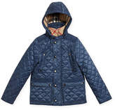 Burberry Charlie Quilted Jacket, Blue, Size 4-14