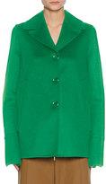 Marni Single-Breasted Car Coat, Green