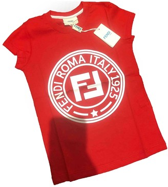 Fendi Red Cotton Tops