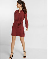 Express long sleeve mini shirt dress