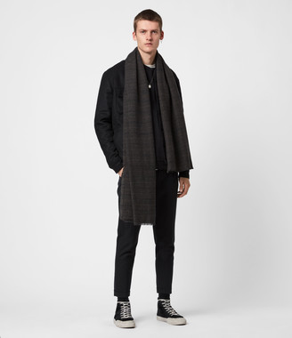 AllSaints Griffin Wool Blend Scarf