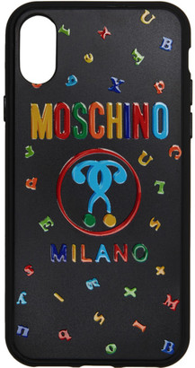 Moschino Black Max Magnets iPhone X Case