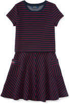 Ralph Lauren Striped Jersey Top & Skirt Set
