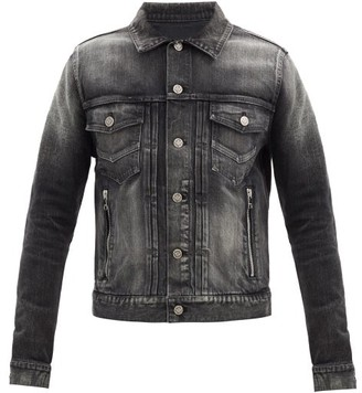 Balmain Faded Denim Jacket - Black