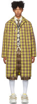 Gucci Yellow and Burgundy Nylon Coat