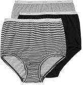 Jockey Classic 3Pk Fit Brief Panties - 9482