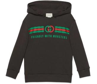 Gucci Children's Web print sweatshirt