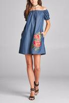 Oddi Denim & Roses Dress