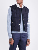 Thom Browne Quilted wool-twill gilet